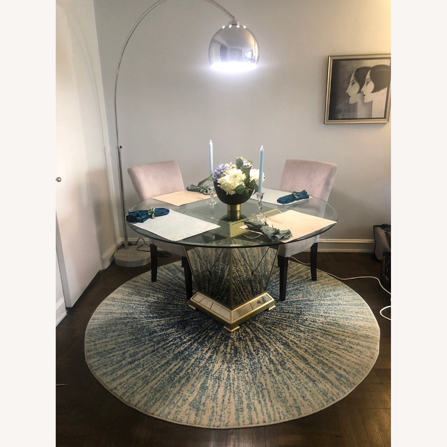 Z Gallerie Borghese Dining Room Table W 4 Chairs Aptdeco