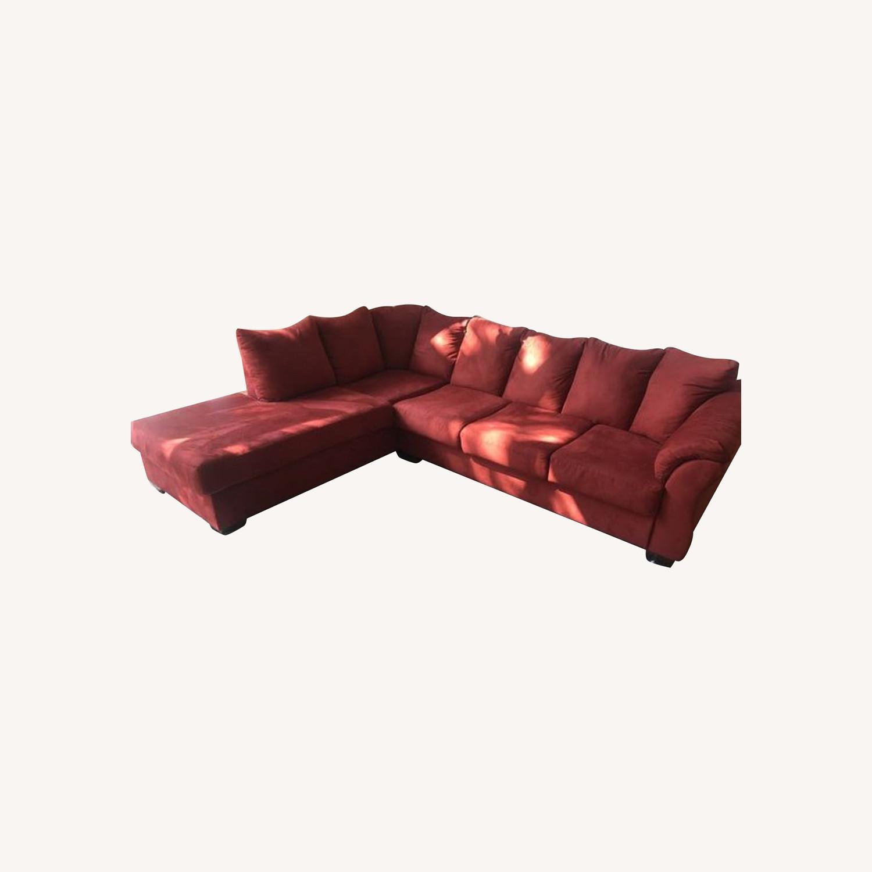 Ashleys Furniture Sectional Sleeper Sofa - image-0