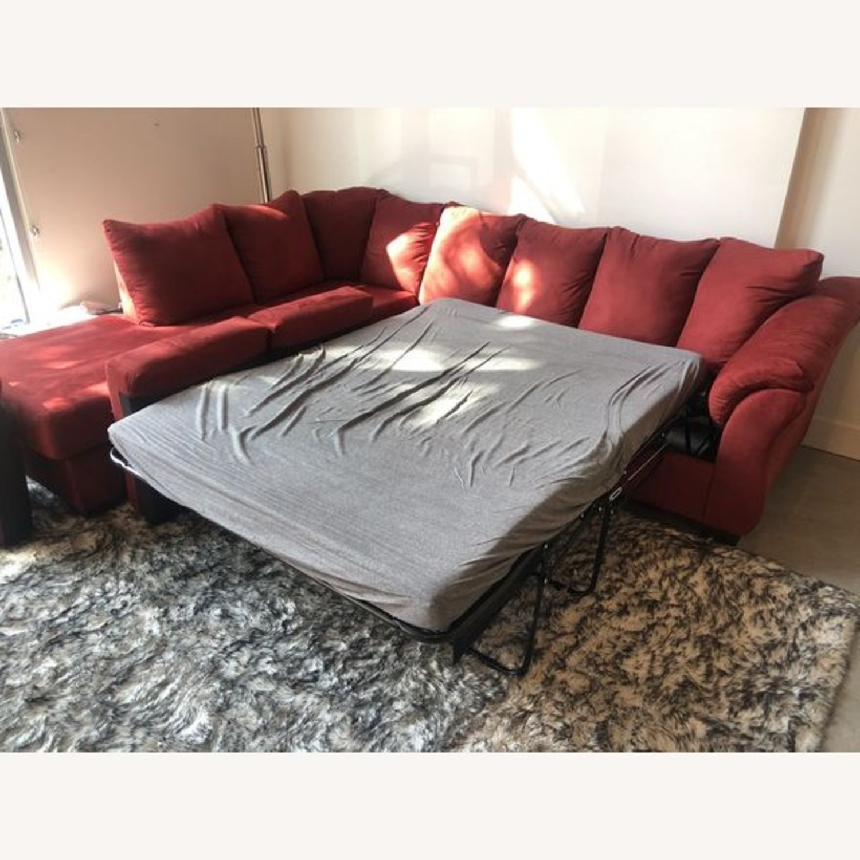 Ashleys Furniture Sectional Sleeper Sofa - image-2