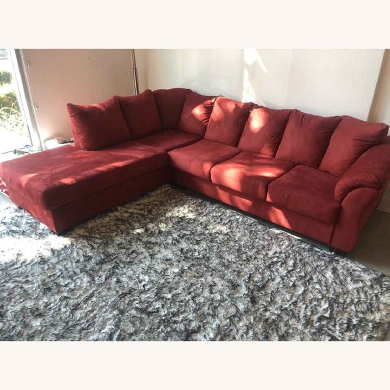 Ashleys Furniture Sectional Sleeper Sofa - image-3