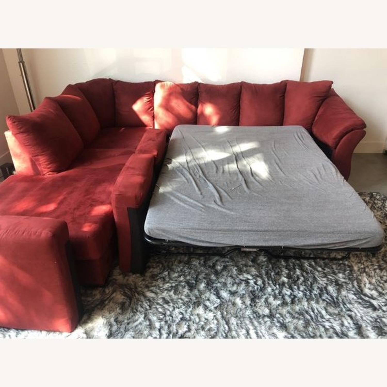 Ashleys Furniture Sectional Sleeper Sofa - image-5
