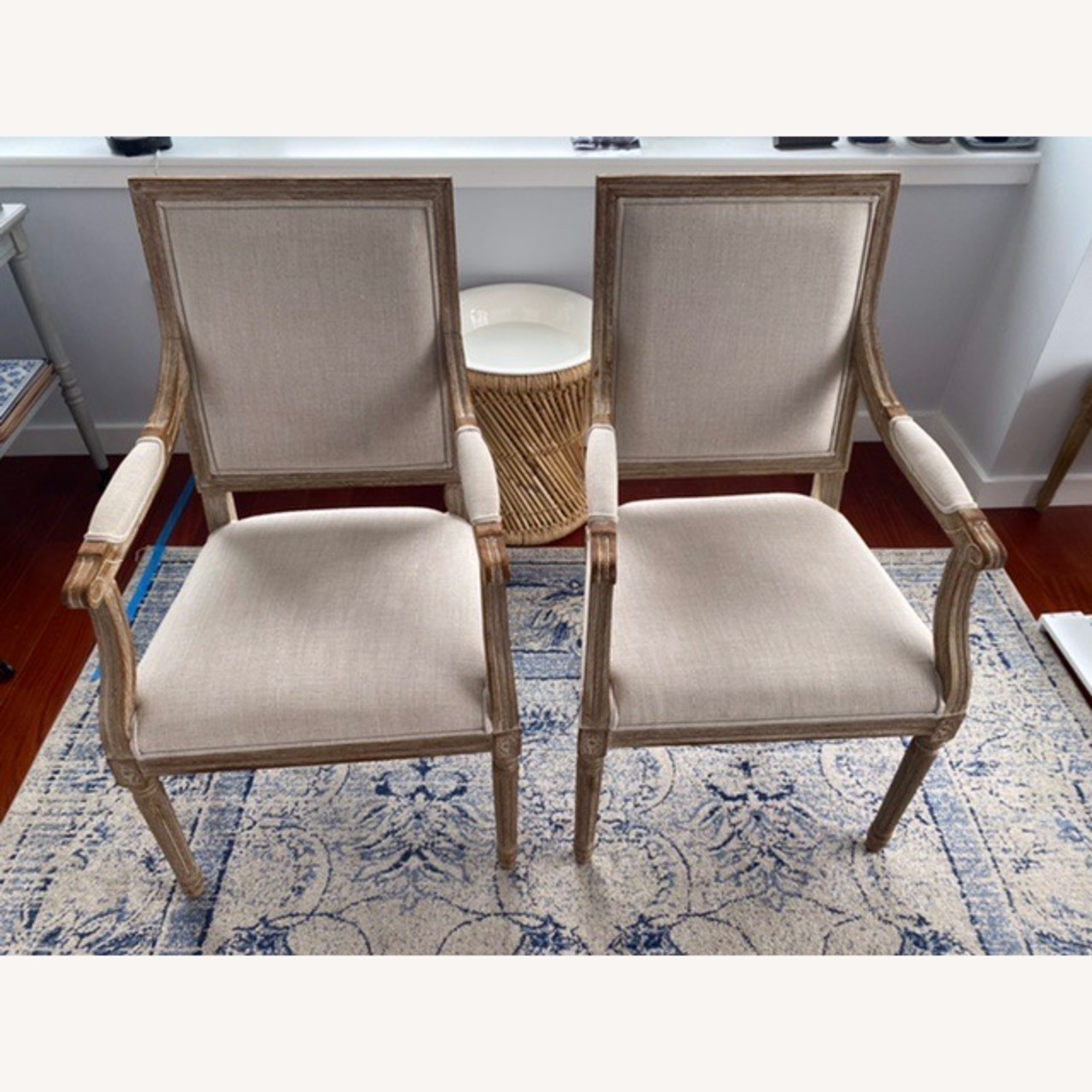 Restoration Hardware French Square Upholstered Armchair - image-1