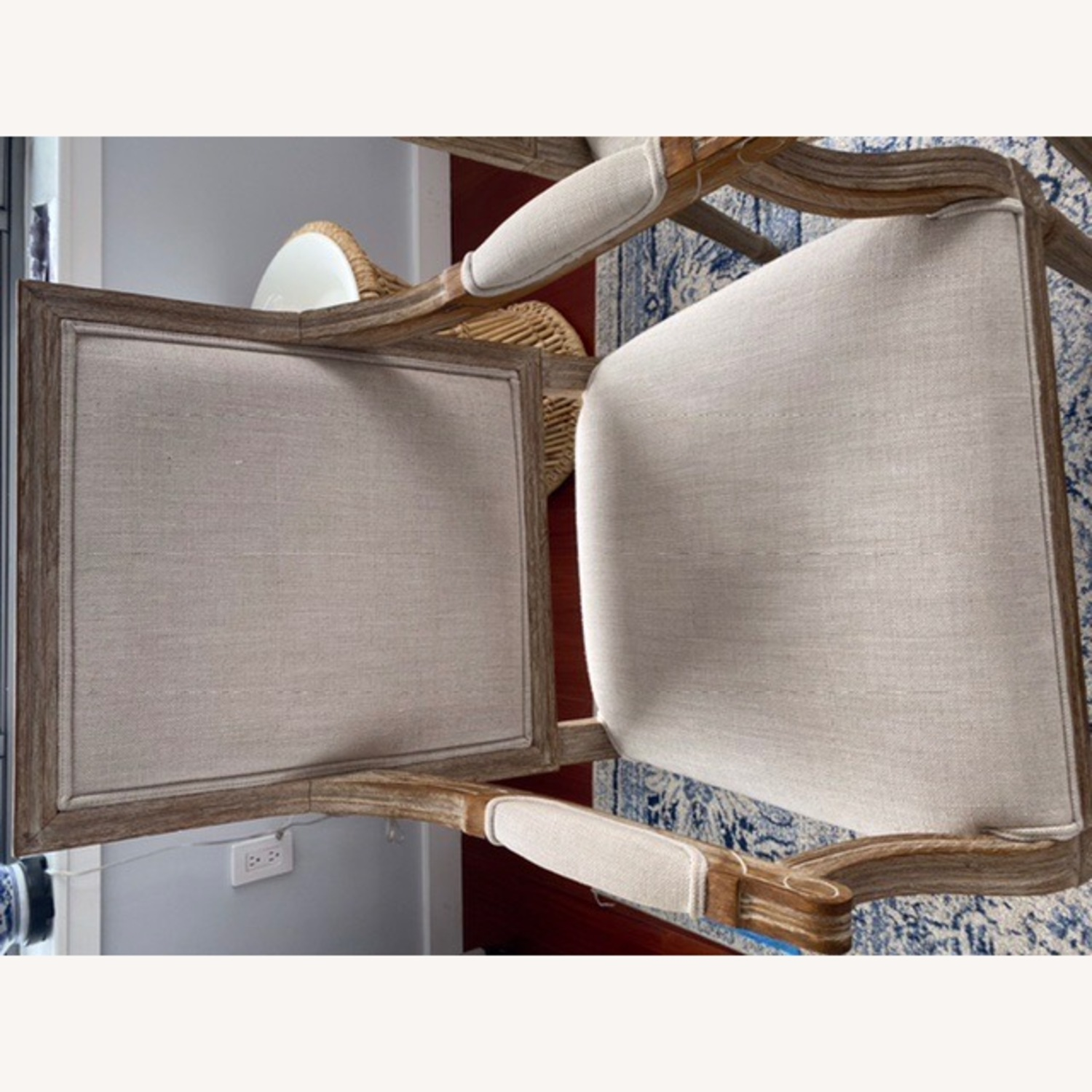 Restoration Hardware French Square Upholstered Armchair - image-2