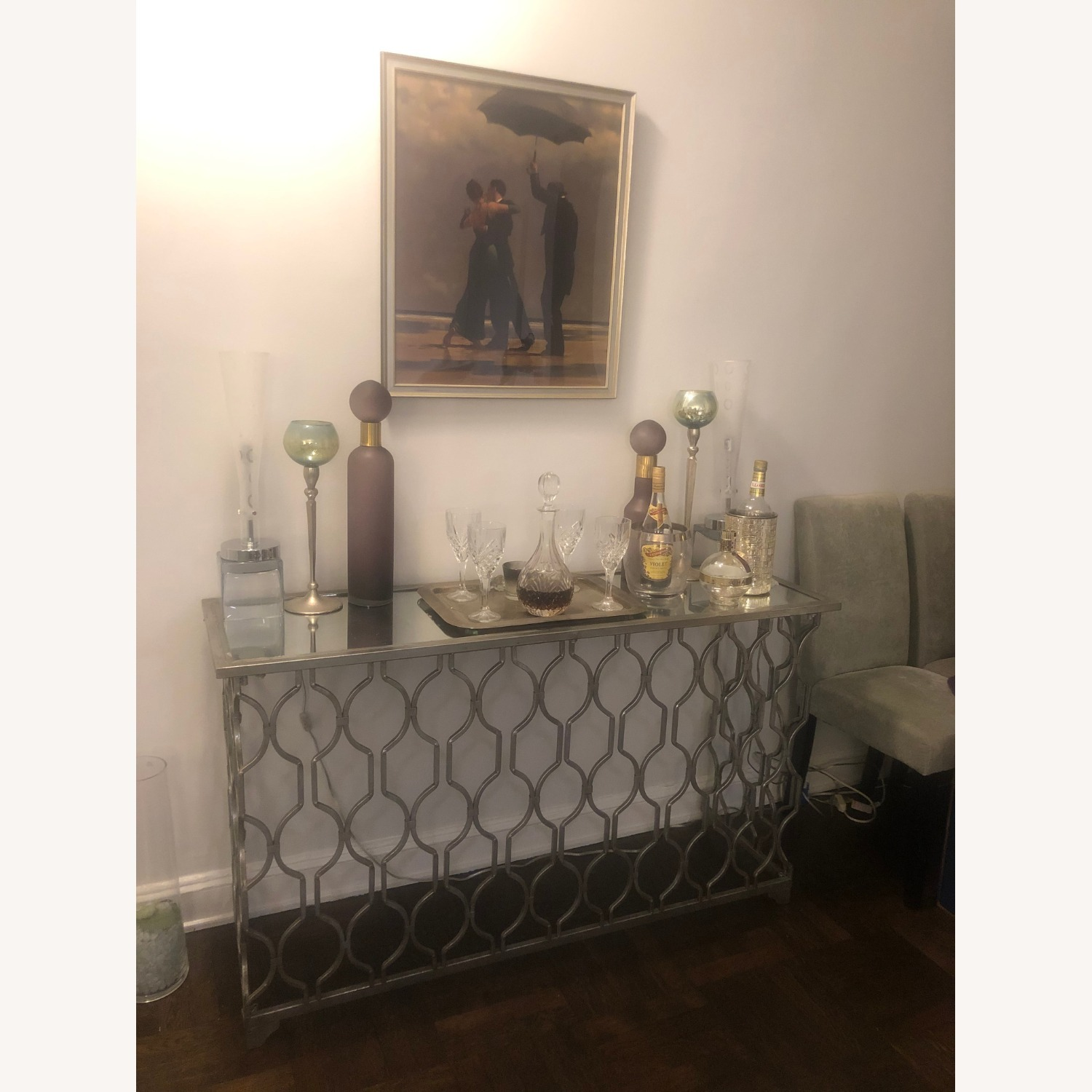 Mirror Top Side Table - image-2