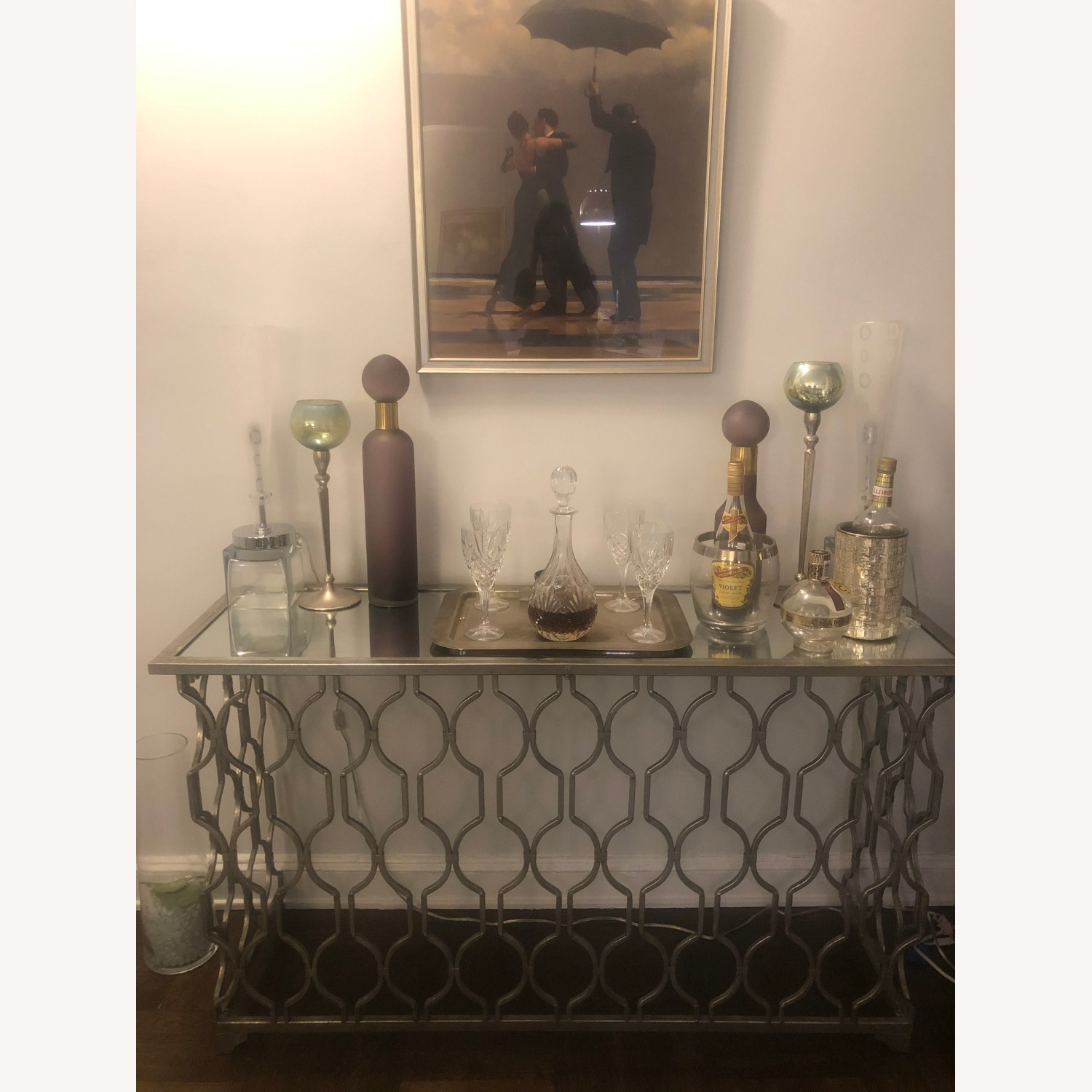 Mirror Top Side Table - image-1