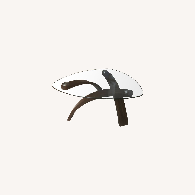 Allure Glass/Hazelnut Coffee Table - image-0