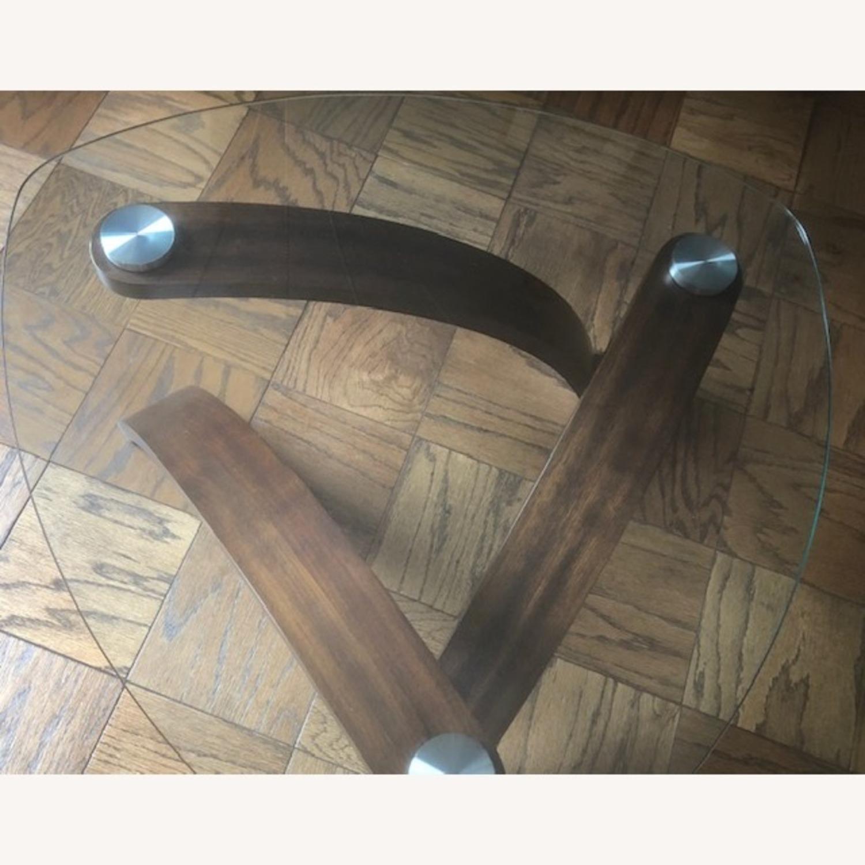 Allure Glass/Hazelnut Coffee Table - image-3