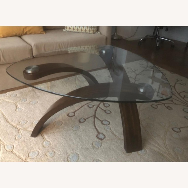 Allure Glass/Hazelnut Coffee Table - image-1