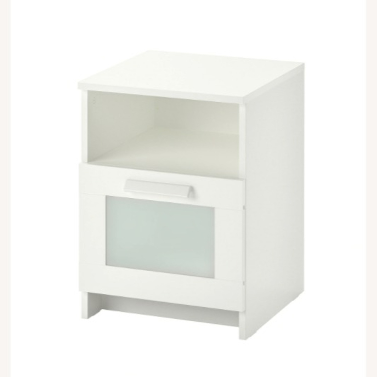 White Nightstand with Storage Space - image-4