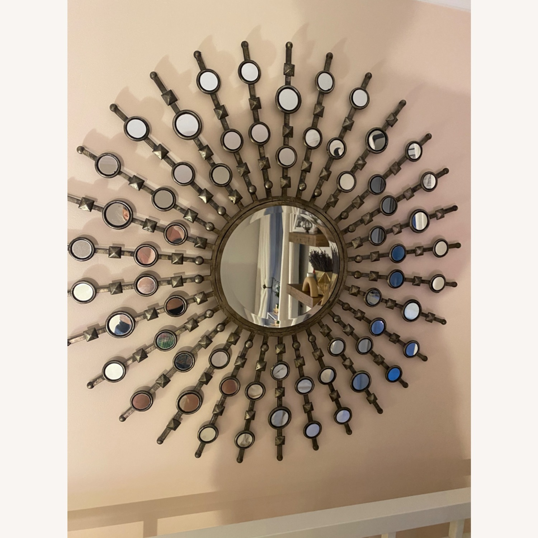 Silver Sunburst Mirror - image-1