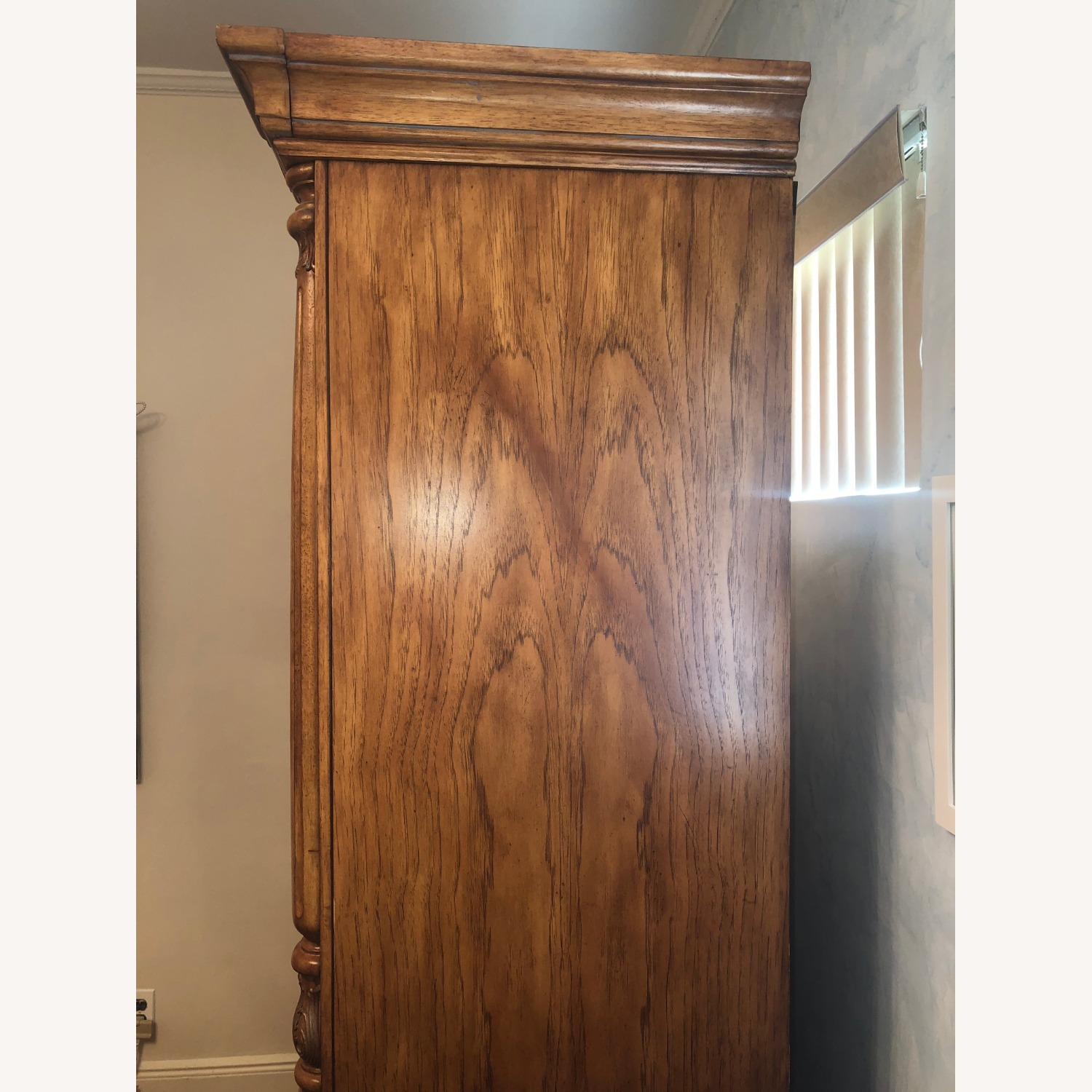 Wooden Walnut Armoire/TV cabinet - image-8