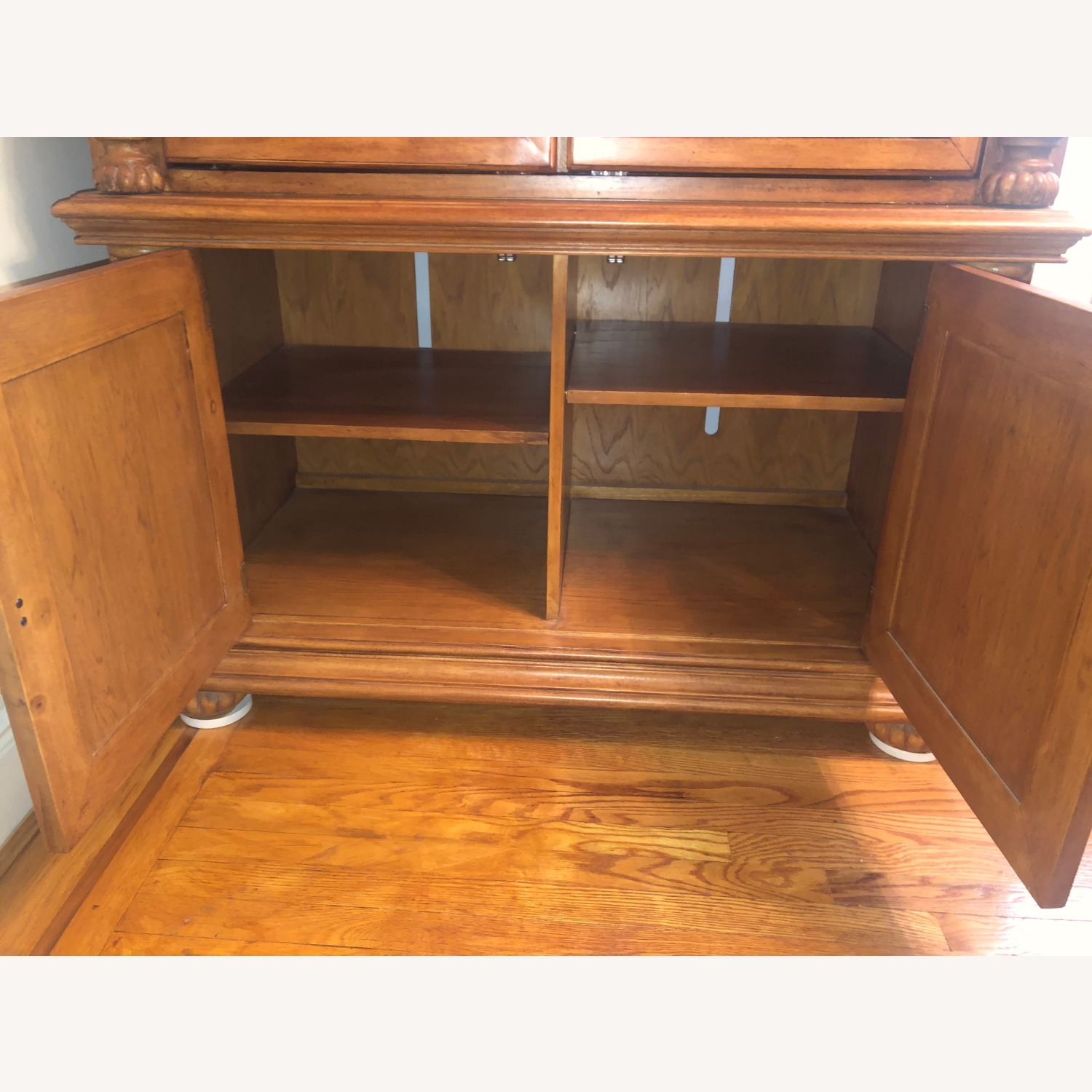 Wooden Walnut Armoire/TV cabinet - image-7