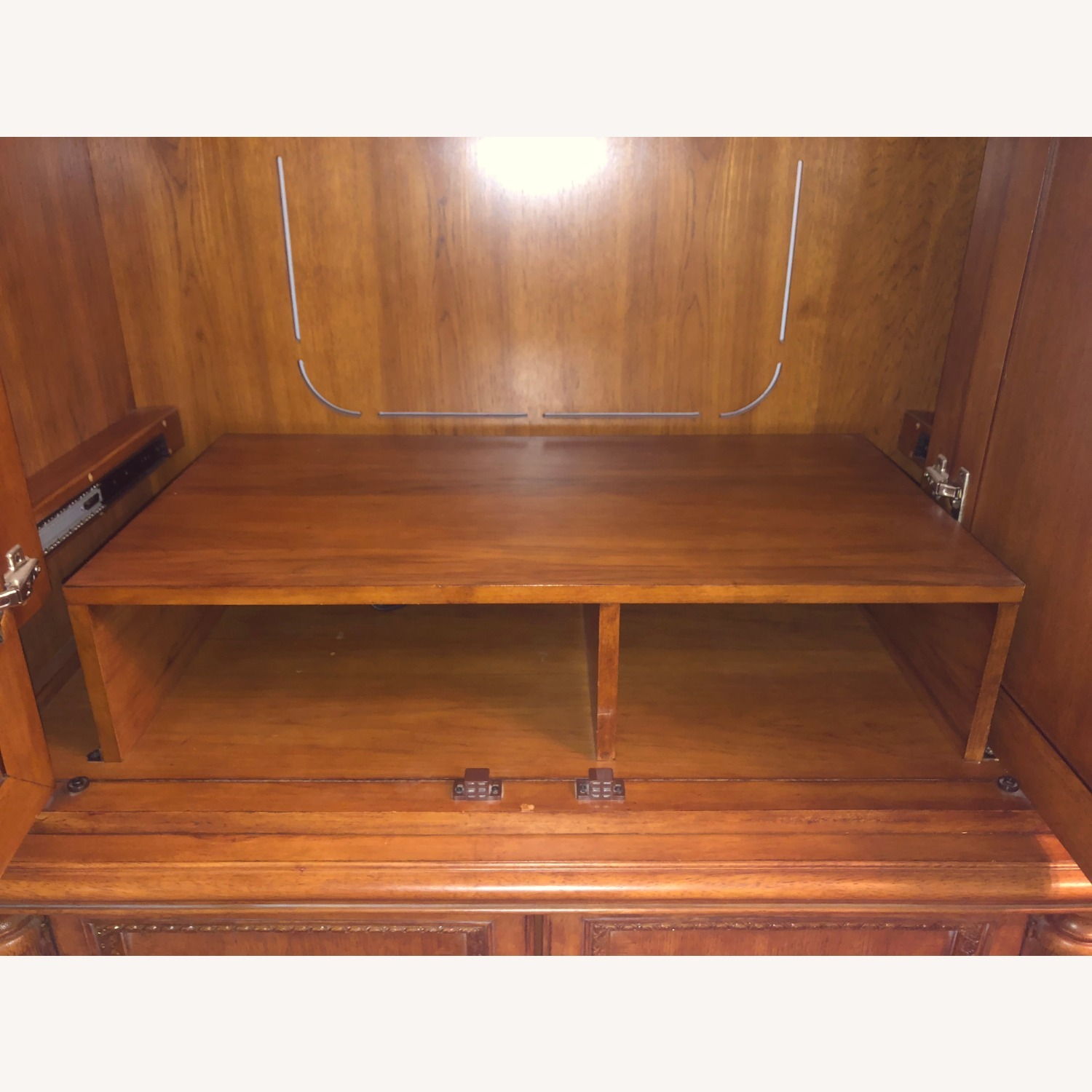 Wooden Walnut Armoire/TV cabinet - image-6