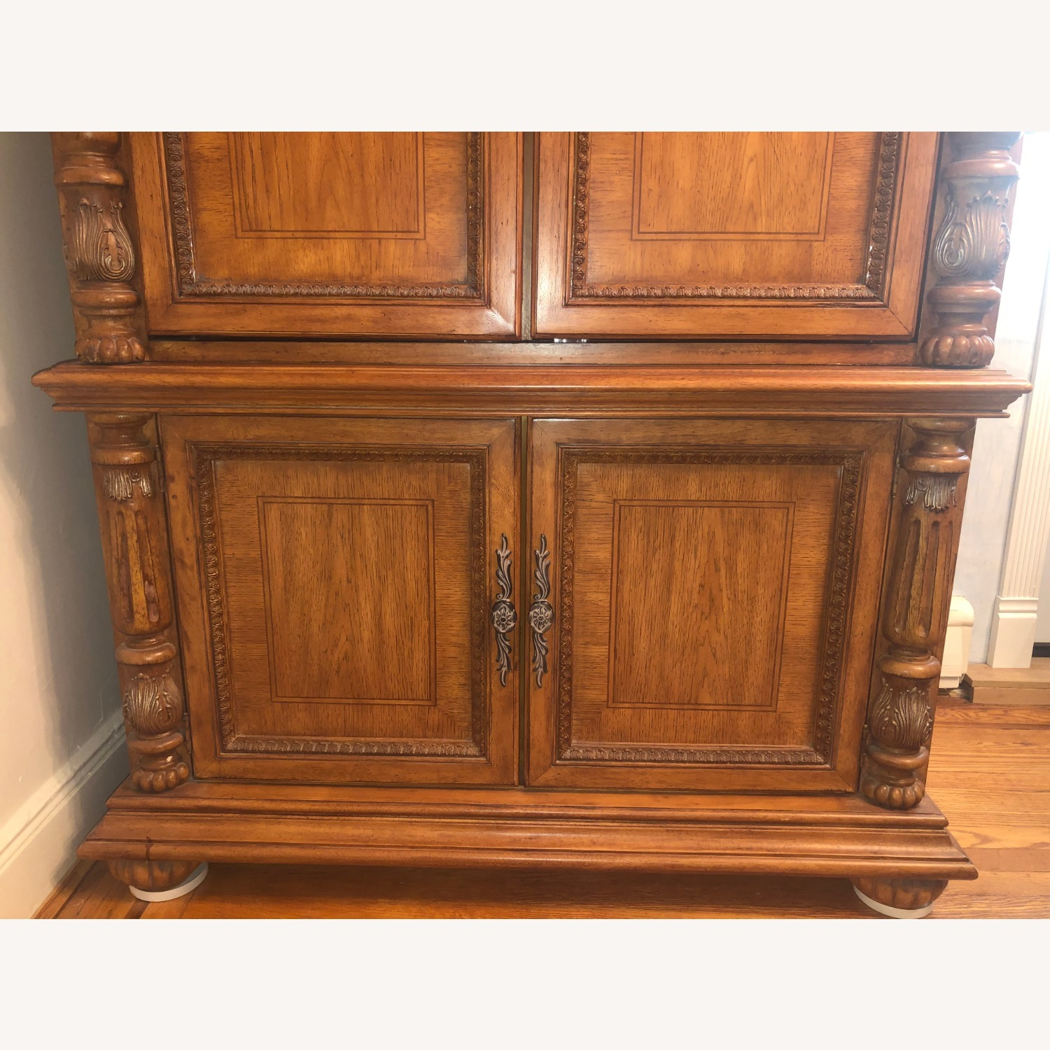 Wooden Walnut Armoire/TV cabinet - image-3