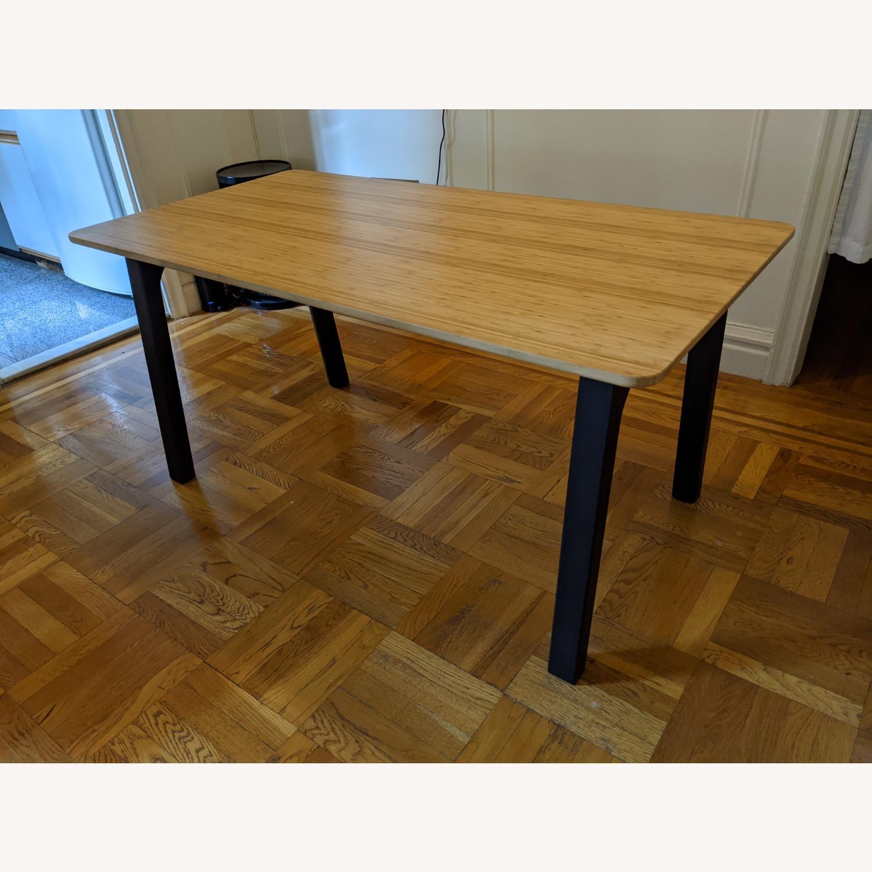IKEA OVRARYD Bamboo Top Vastana Dark Brown Legs - image-0