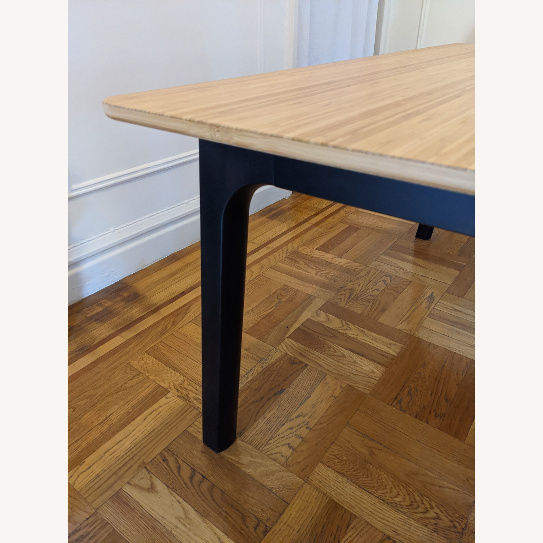 IKEA OVRARYD Bamboo Top Vastana Dark Brown Legs - image-2