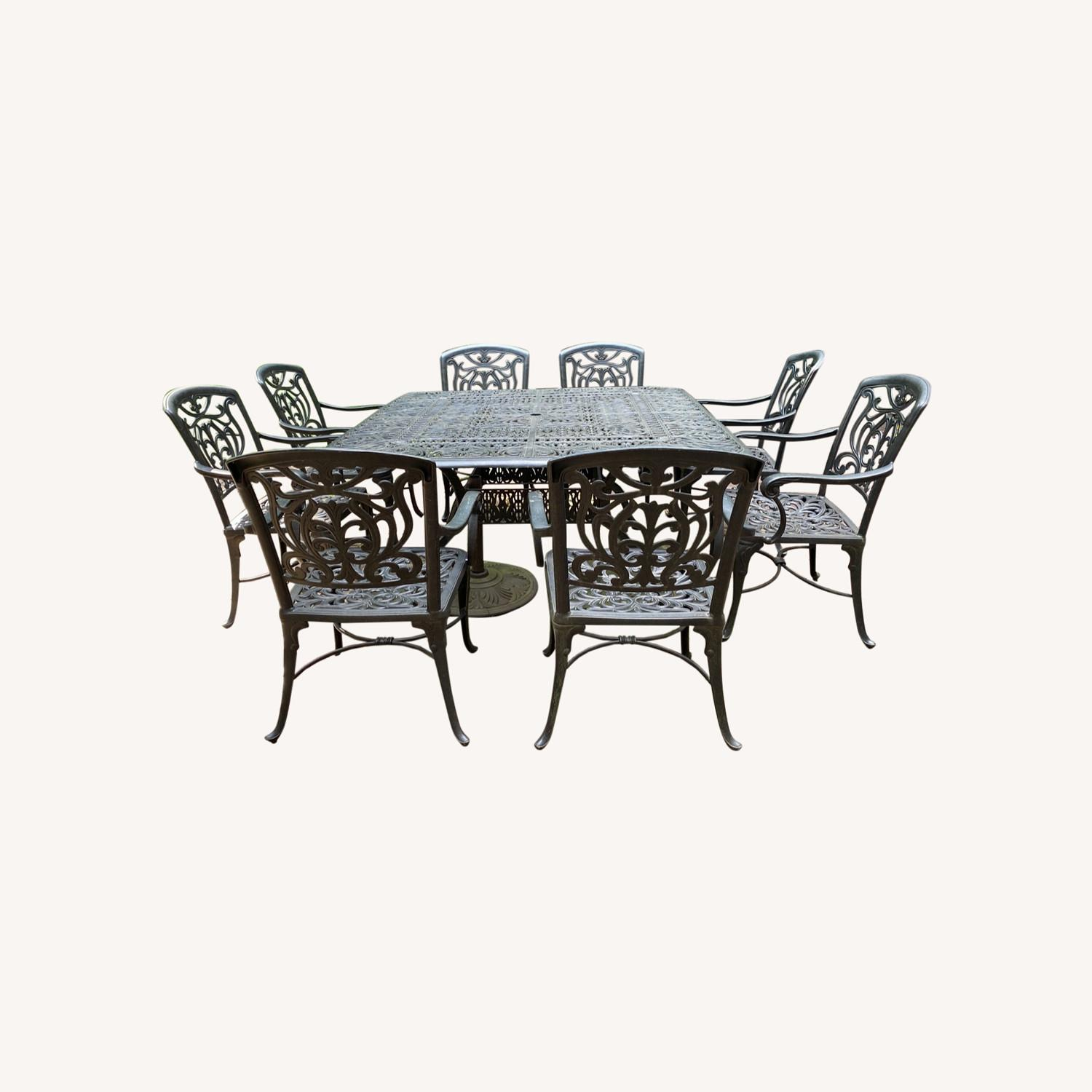 Fortunoff Outdoor Dining Set with 8 Chairs - image-0