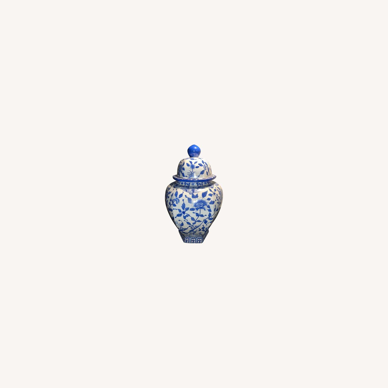 Ethan Allen Porcelain Jar with Lid - image-0
