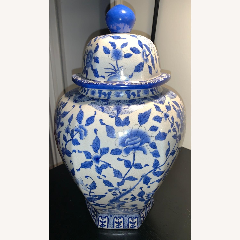 Ethan Allen Porcelain Jar with Lid - image-1