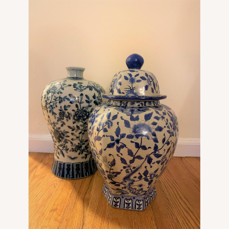 Ethan Allen Porcelain Jar with Lid - image-2