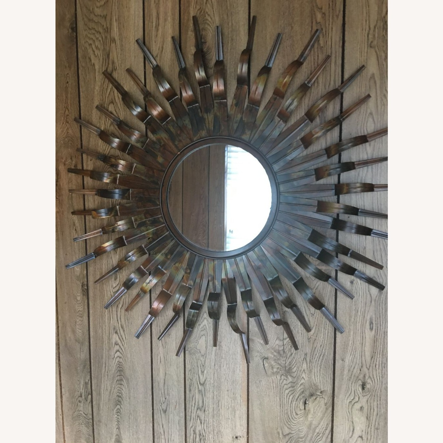 Mirror with Round Metal /Copper Frame - image-2