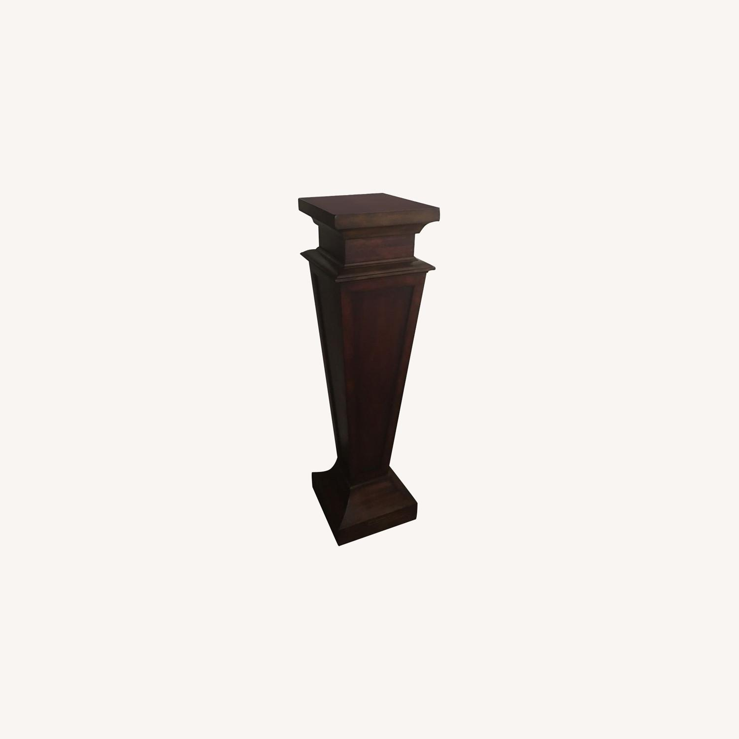 Neo Classical Pedestal With Bust - image-0