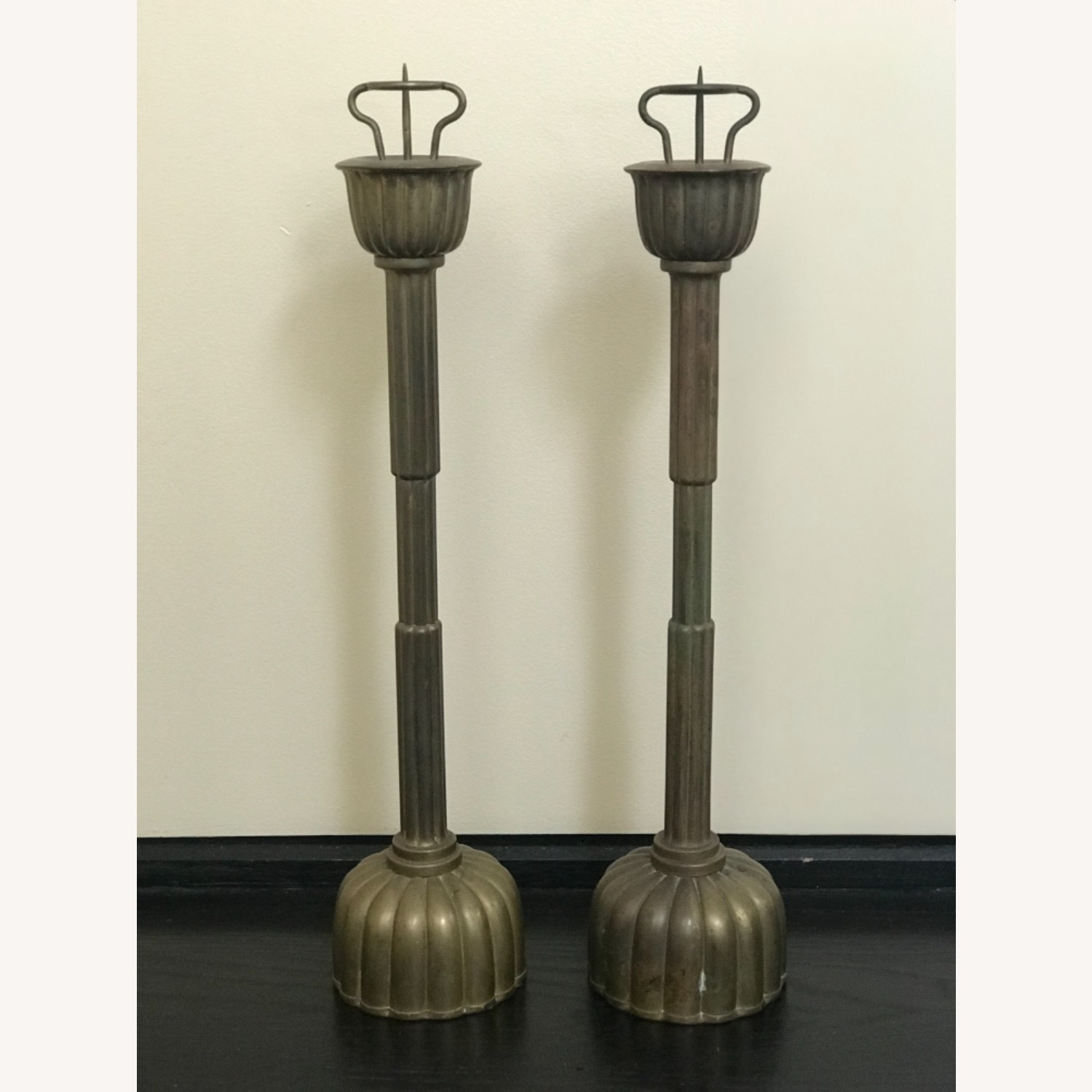 Antique Japanese Candlestick Holders - image-3