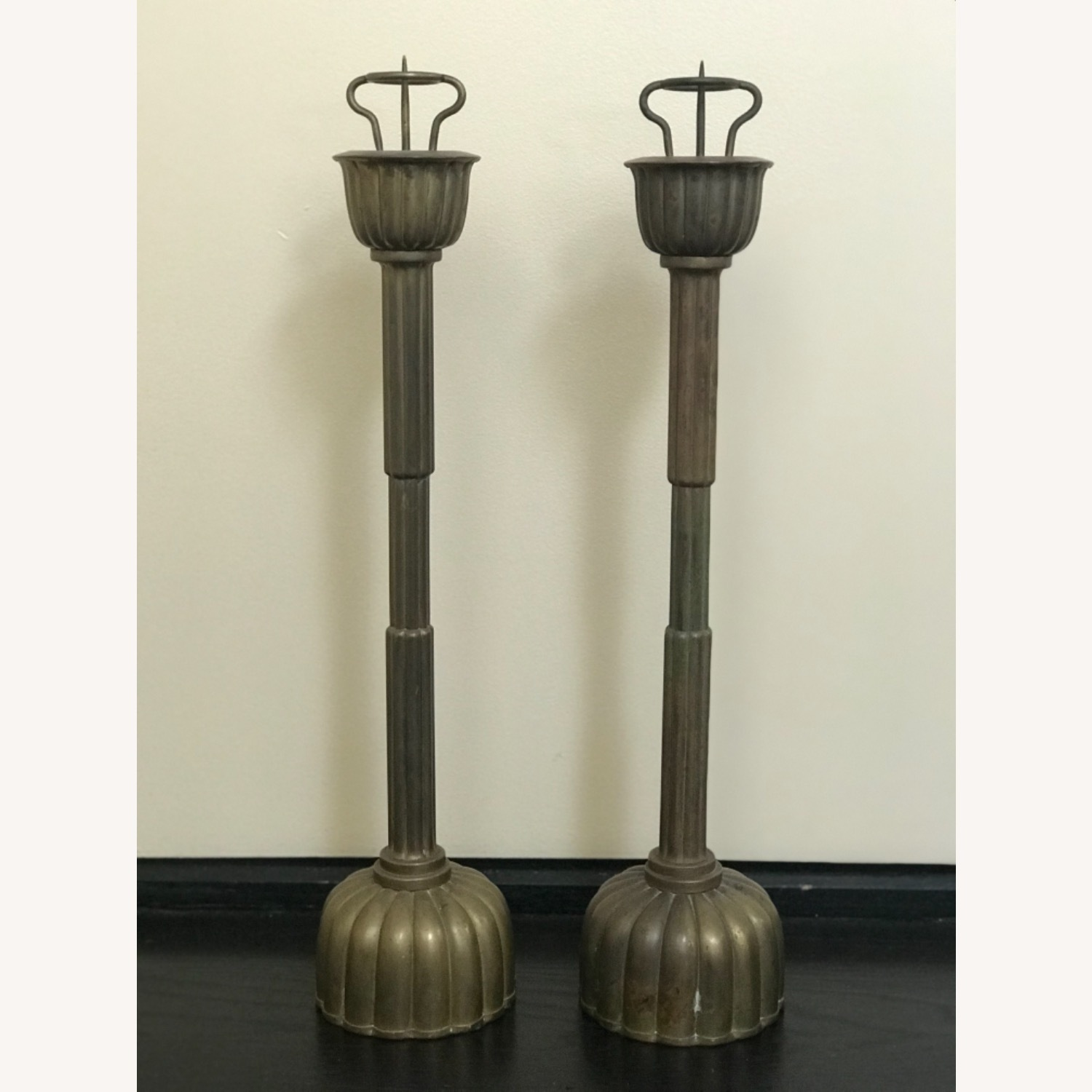 Antique Japanese Candlestick Holders - image-1