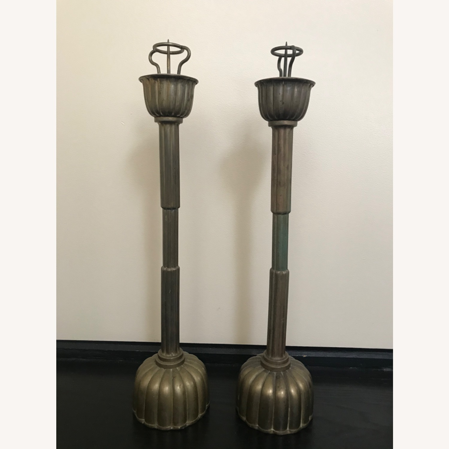 Antique Japanese Candlestick Holders - image-2