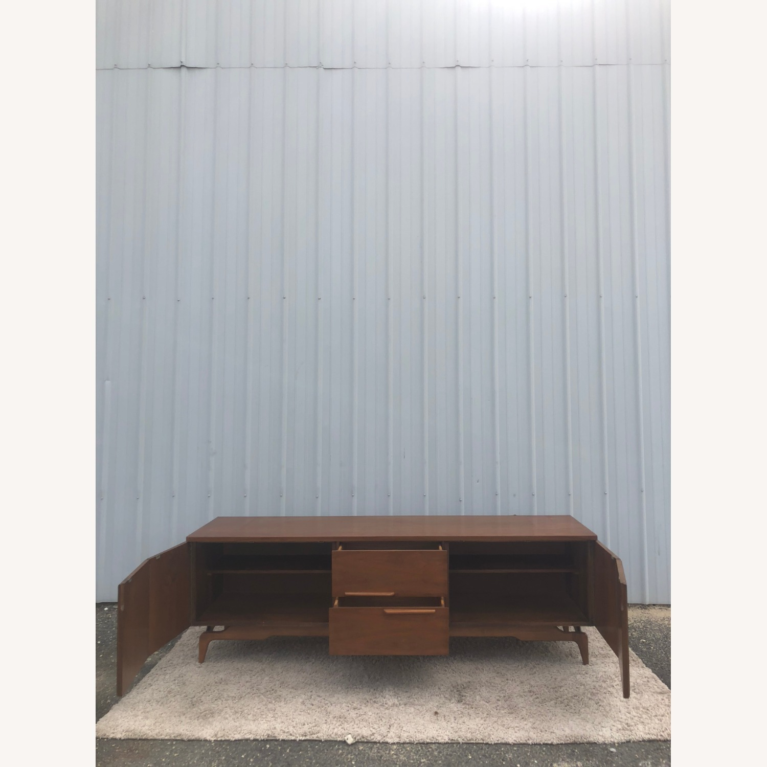 Mid Century China Cabinet with Glass Shelves - image-2