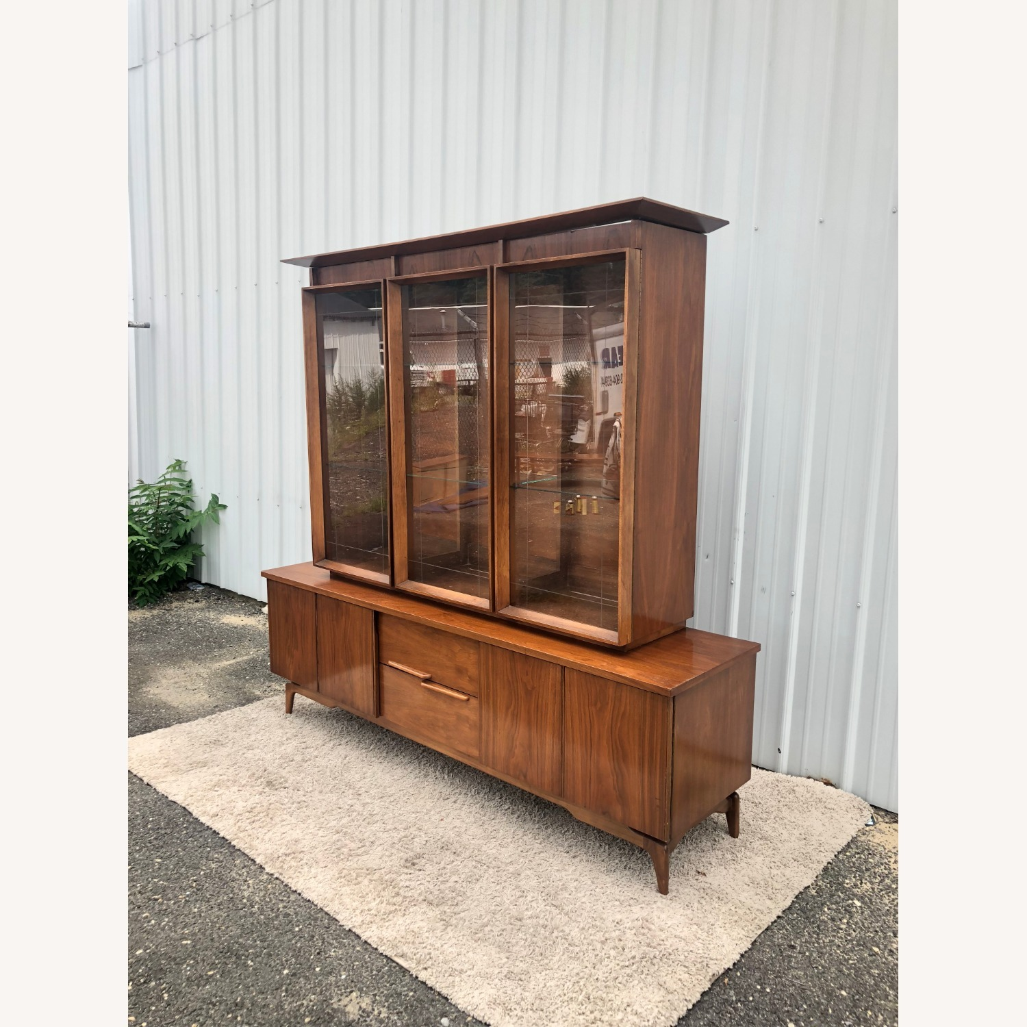 Mid Century China Cabinet with Glass Shelves - image-24
