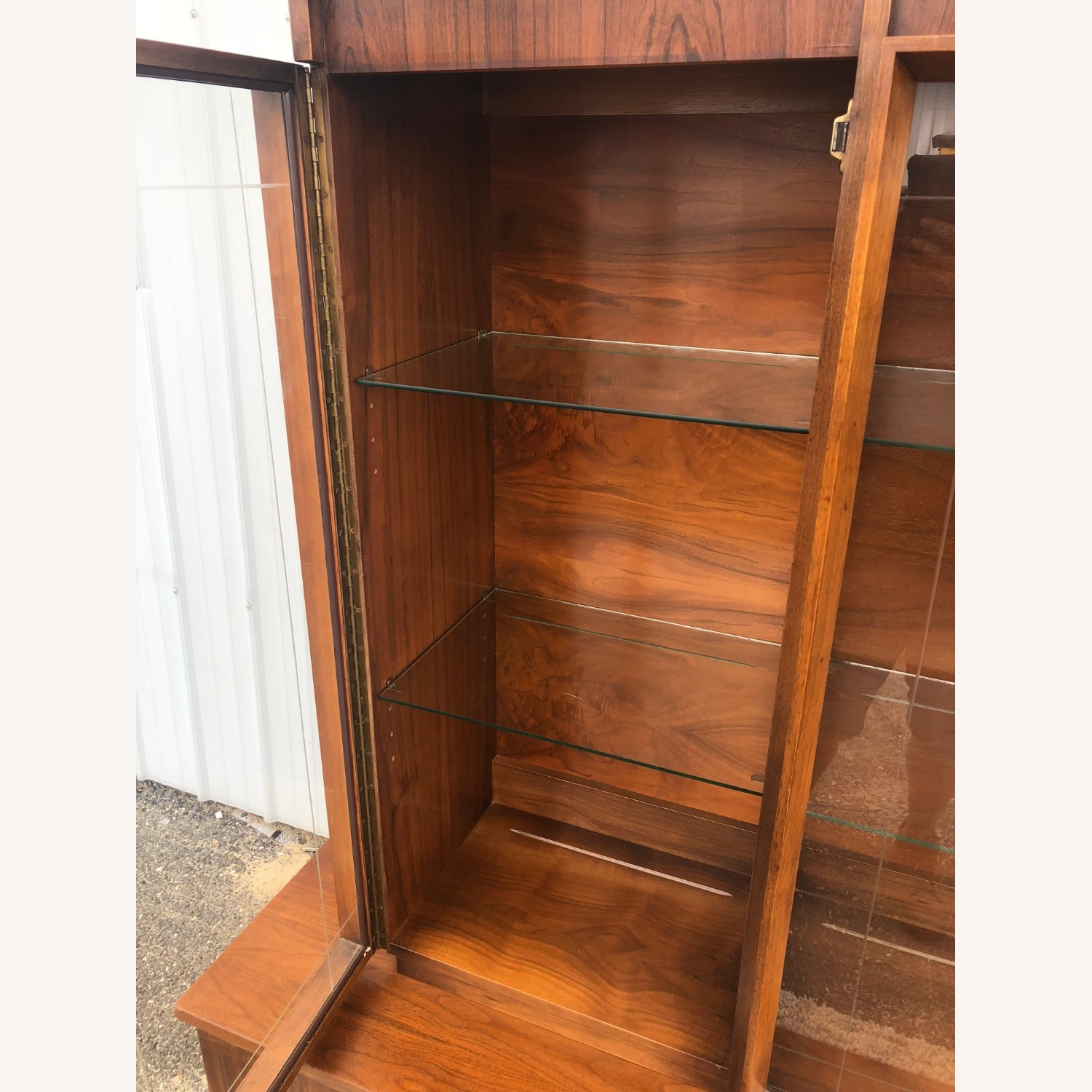 Mid Century China Cabinet with Glass Shelves - image-14