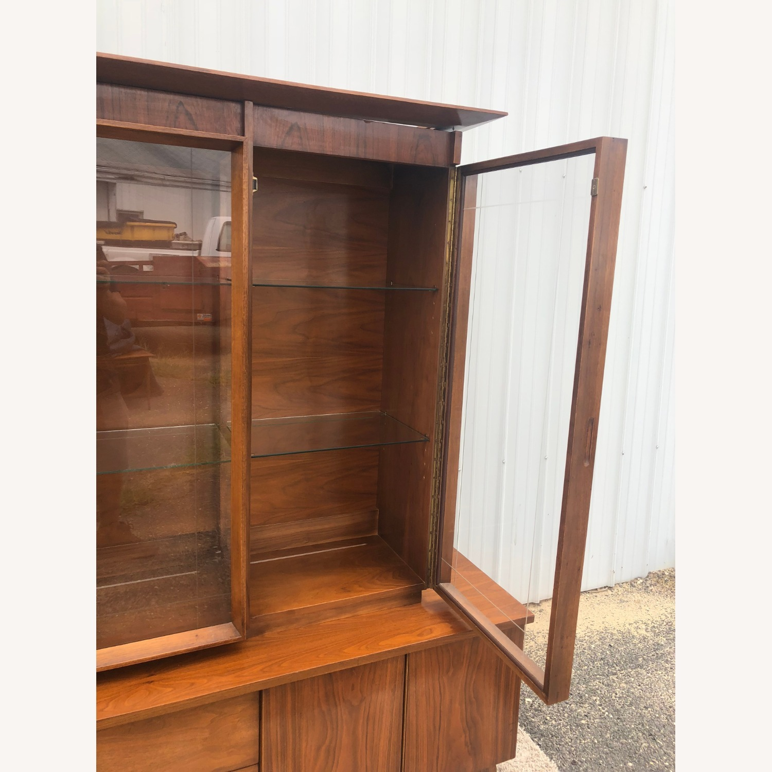 Mid Century China Cabinet with Glass Shelves - image-21
