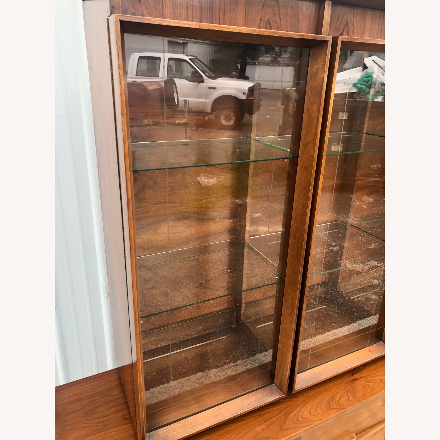 Mid Century China Cabinet with Glass Shelves - image-13