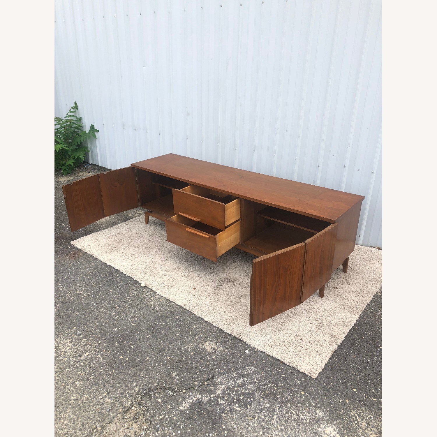 Mid Century China Cabinet with Glass Shelves - image-3