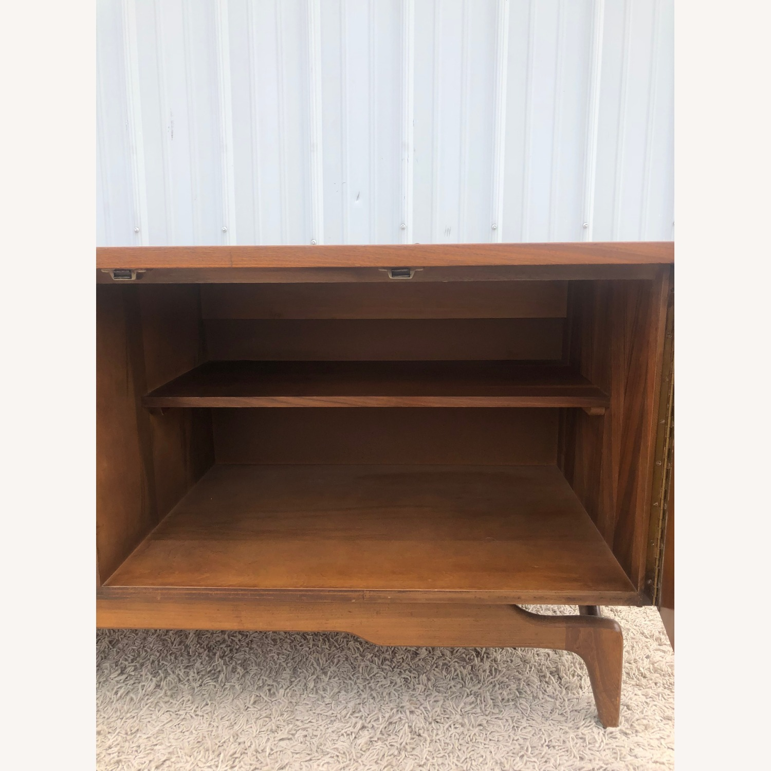 Mid Century China Cabinet with Glass Shelves - image-5