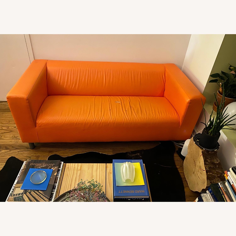 IKEA Orange Kilppan Sofa/Loveseat Vegan Leather - image-2
