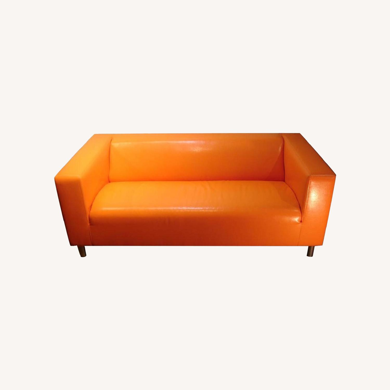 IKEA Orange Kilppan Sofa/Loveseat Vegan Leather - image-0