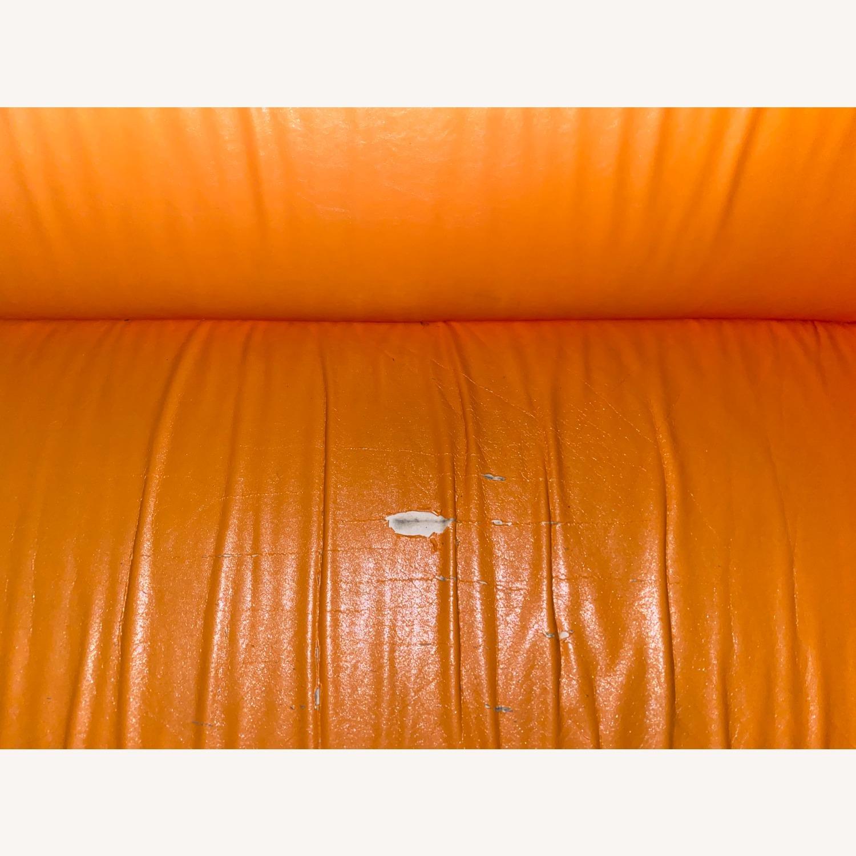 IKEA Orange Kilppan Sofa/Loveseat Vegan Leather - image-3
