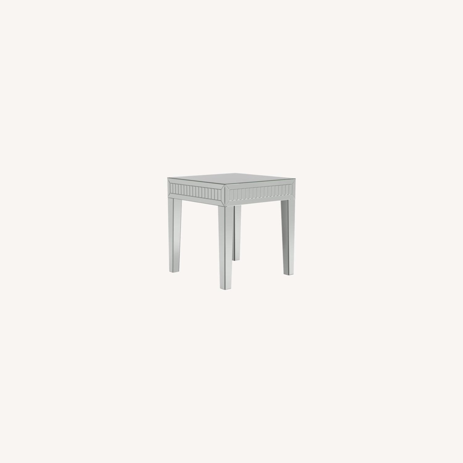 Ultra-Glam Side Table In Silver Finish - image-4