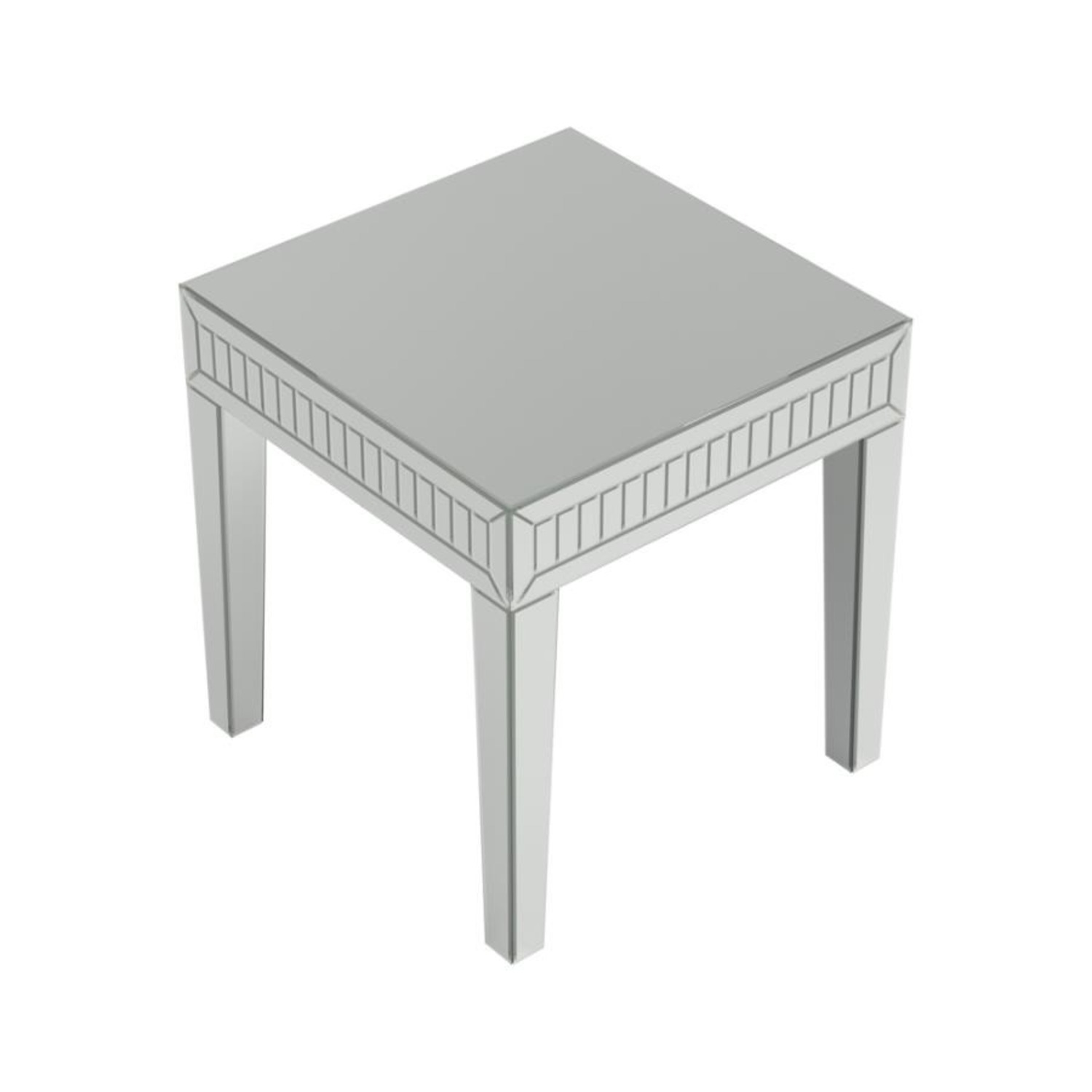 Ultra-Glam Side Table In Silver Finish - image-2