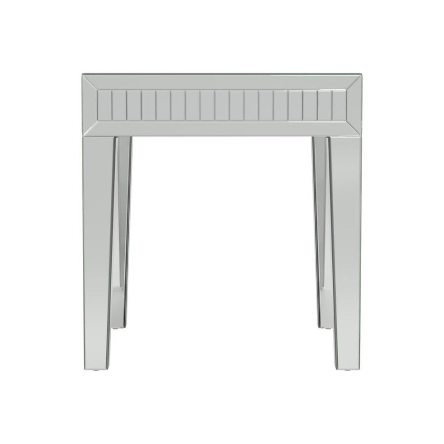 Ultra-Glam Side Table In Silver Finish - image-1