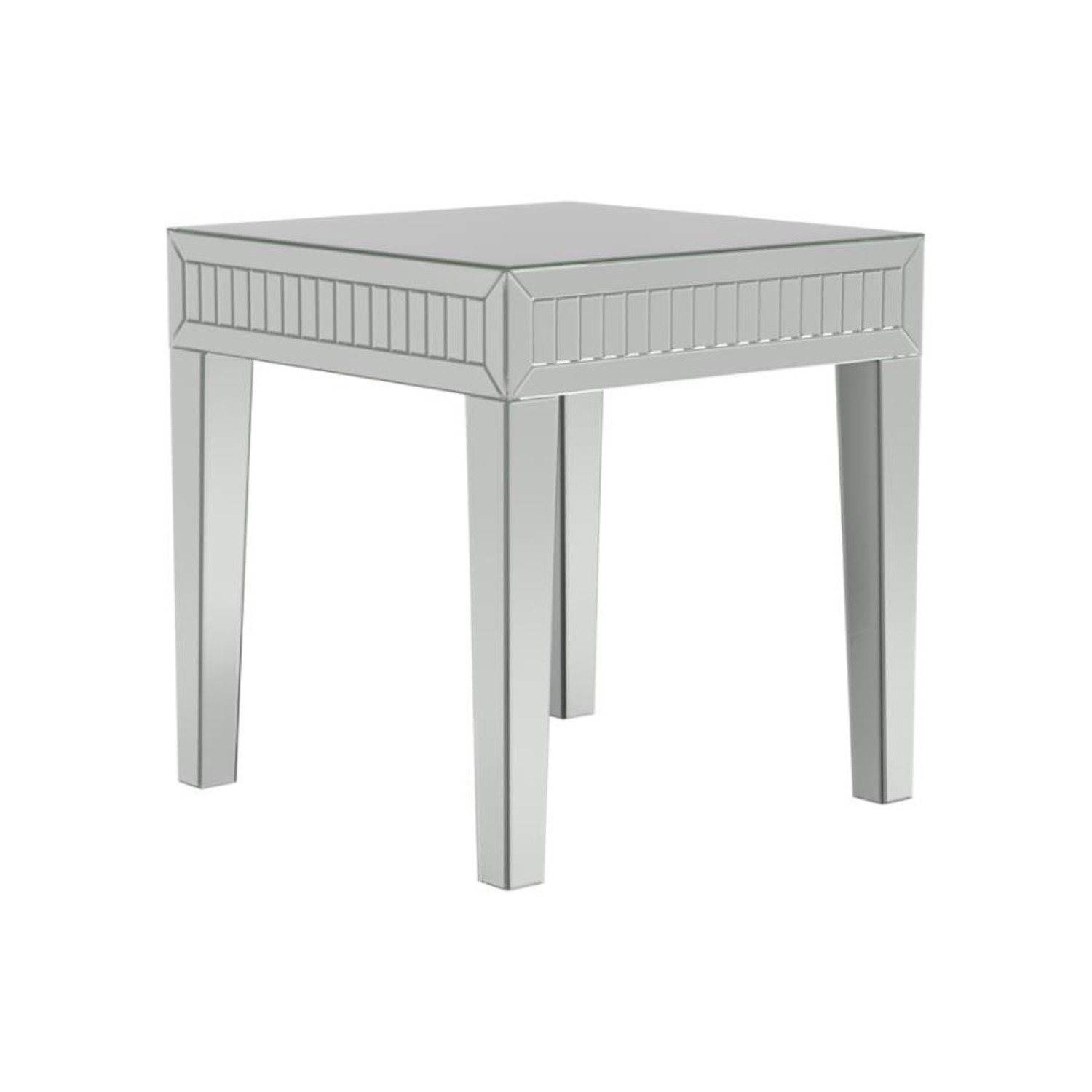 Ultra-Glam Side Table In Silver Finish - image-0