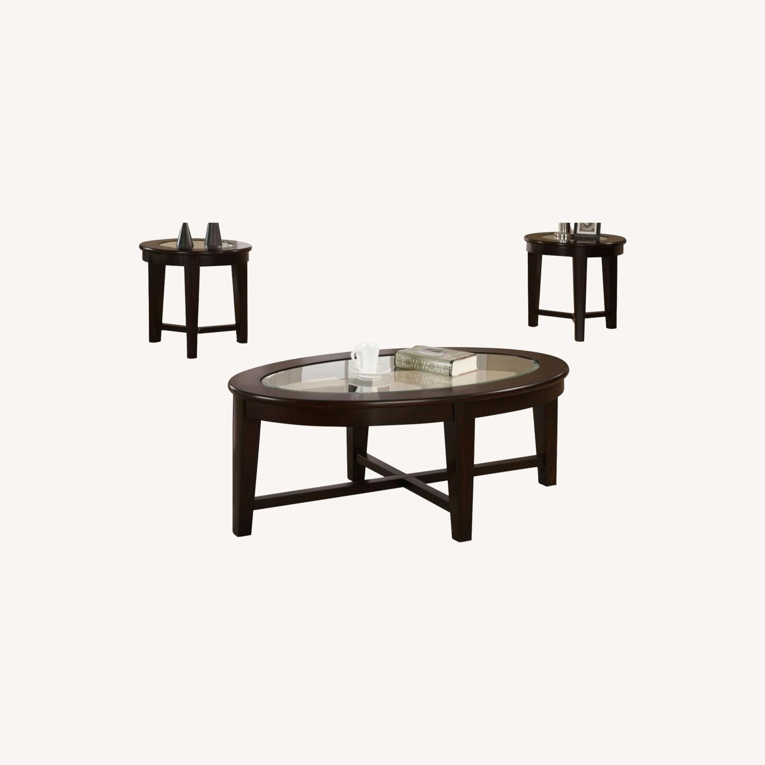 3-Piece Occasional Set In Cappuccino Finish - image-4