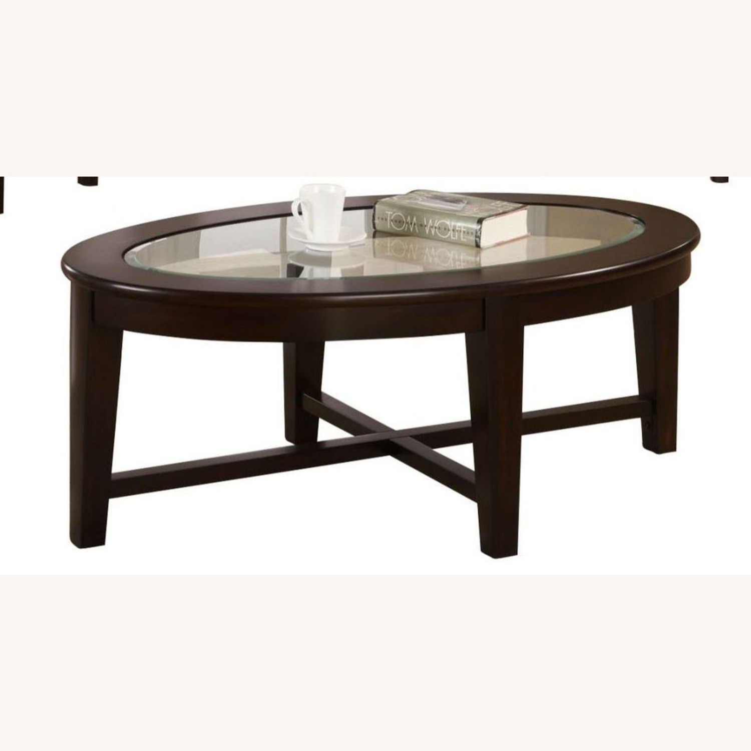 3-Piece Occasional Set In Cappuccino Finish - image-1