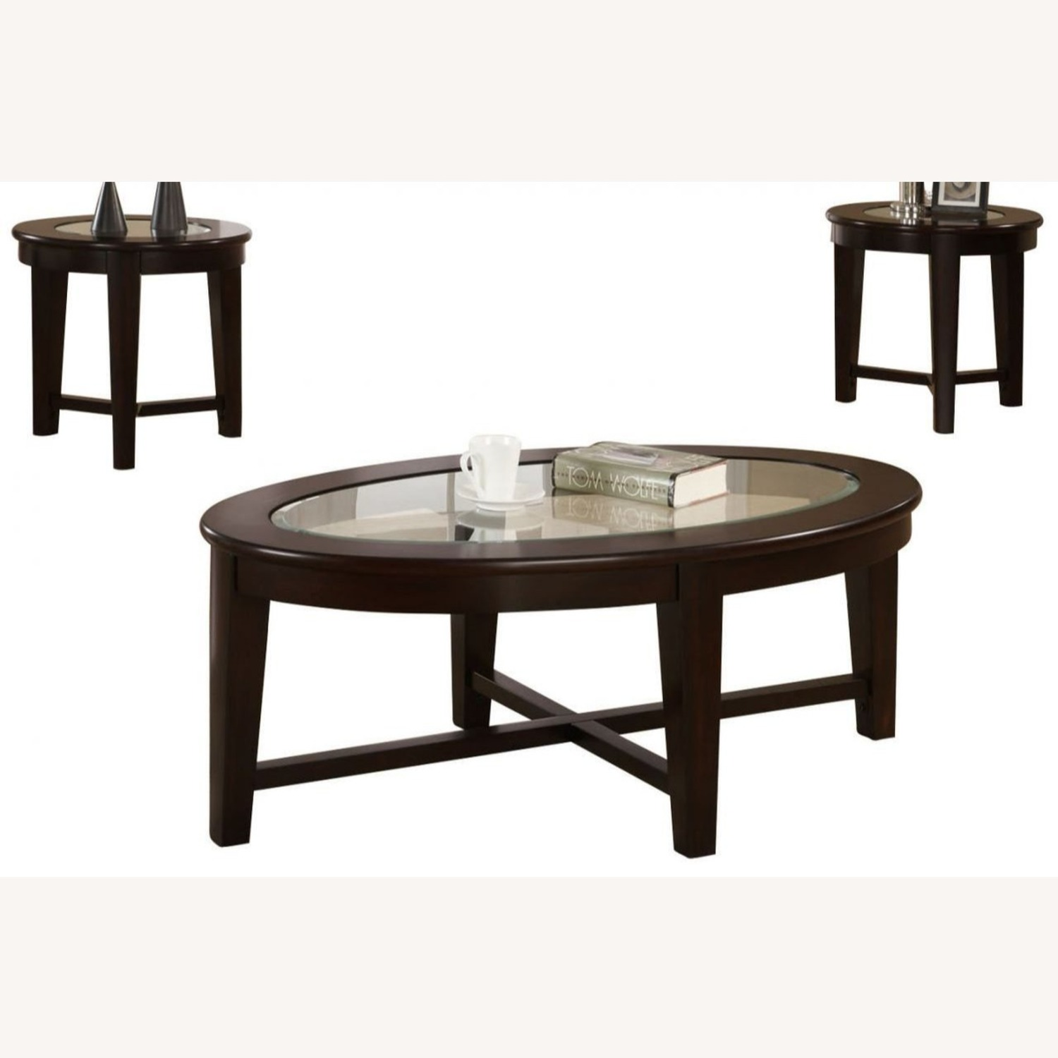 3-Piece Occasional Set In Cappuccino Finish - image-0