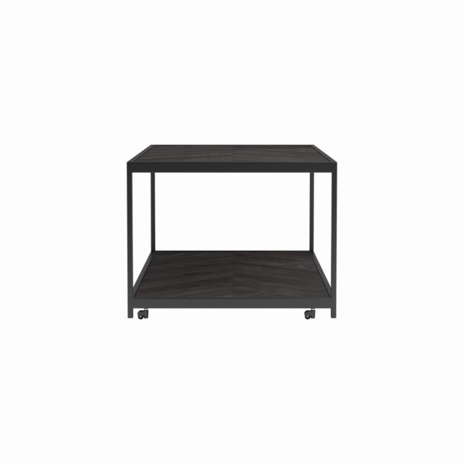 End Table W/ Metal Frame In Sandy Black Finish - image-2