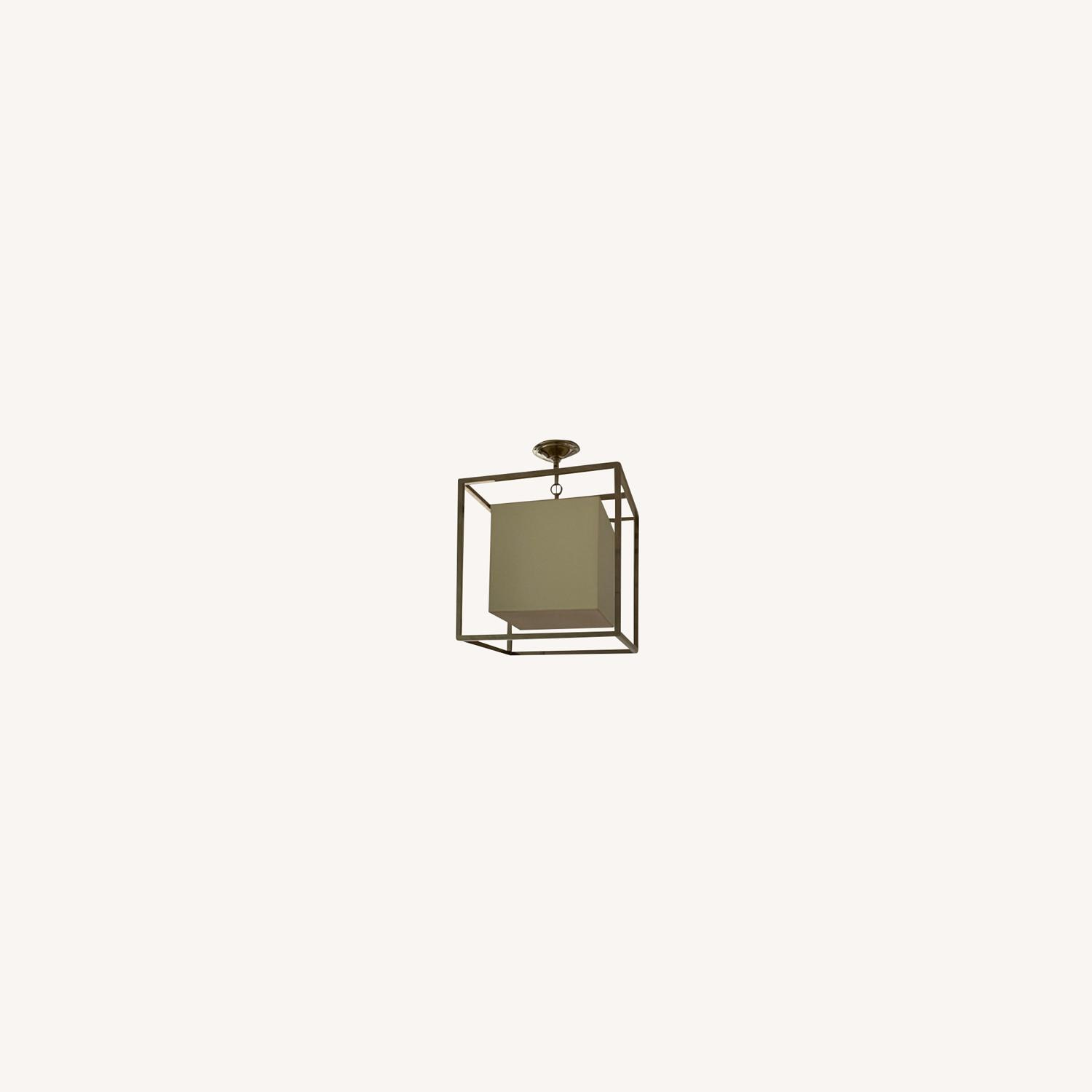 Visual Comfort Caged Ceiling Light - image-0