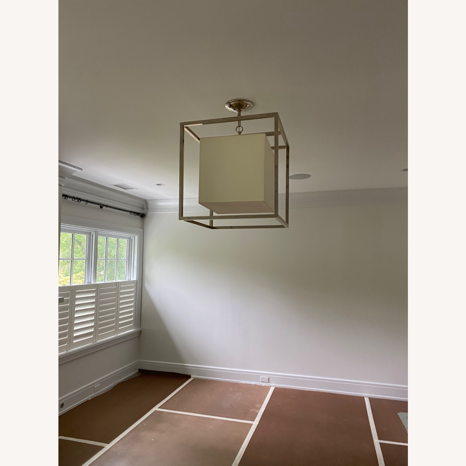 Visual Comfort Caged Ceiling Light - image-1