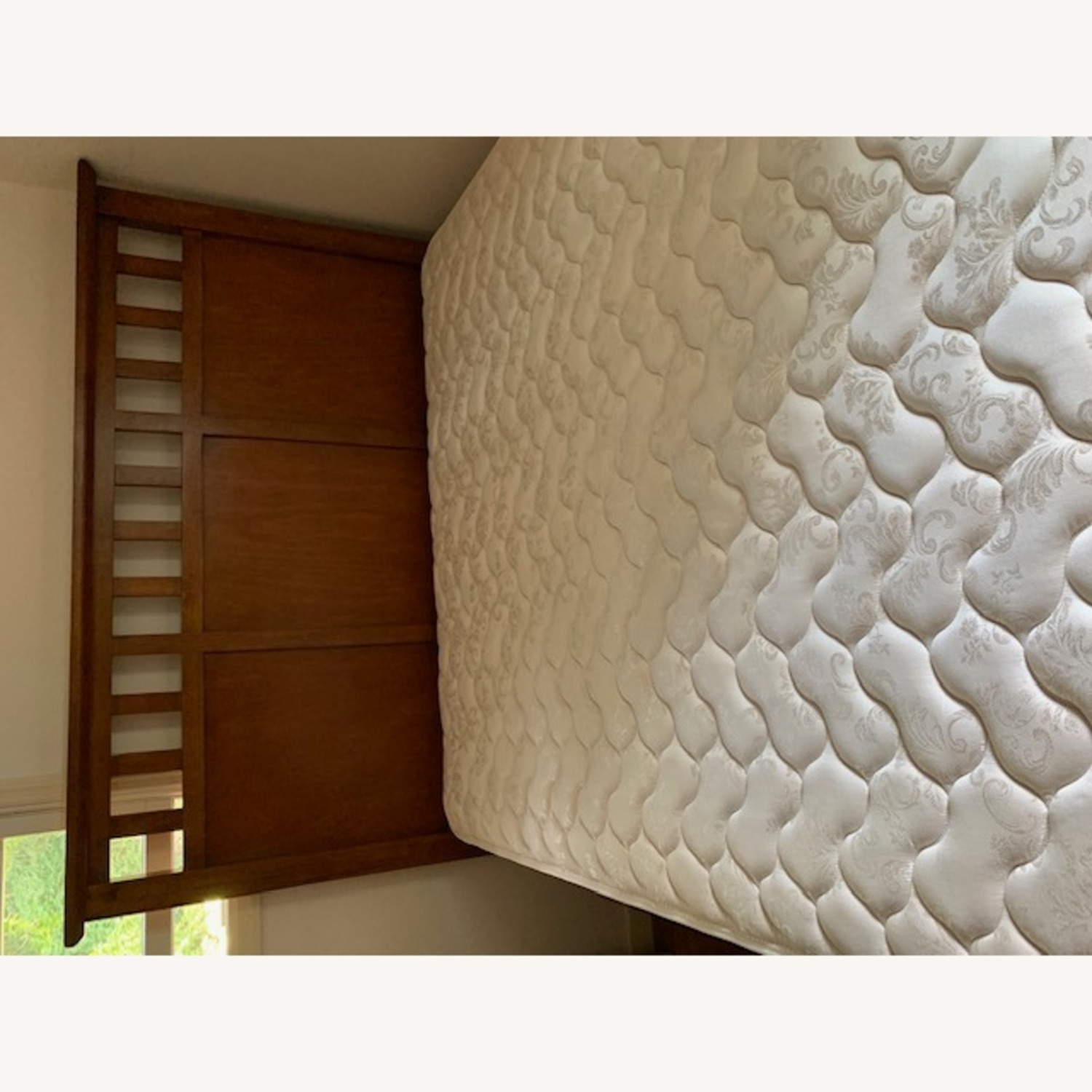 Crate & Barrel Solid Wood Bed and Panel - image-3